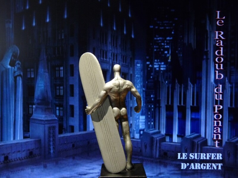 Le Surfer d'Argent - Figurine en plomb Mlsa510