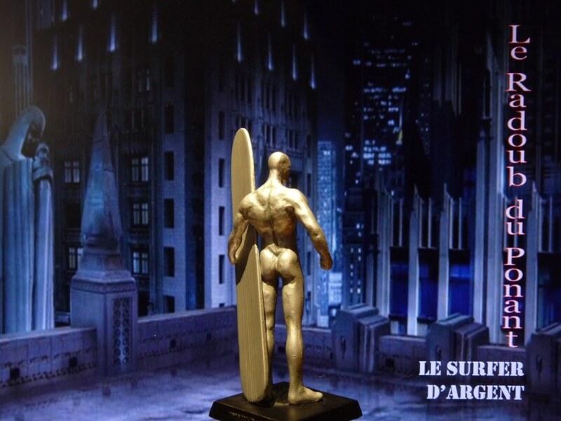 Le Surfer d'Argent - Figurine en plomb Mlsa610