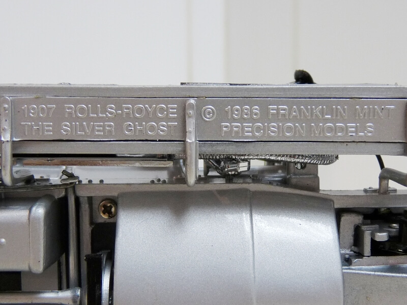 Rolls Royce Silver Ghost - 1907 - Franklin Mint Précision Models 1/18 ème Rolls_16