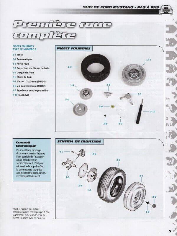 Shelby GT500 - 1967 - 1/8ème - Kit métal - Fascicules Altaya She00017