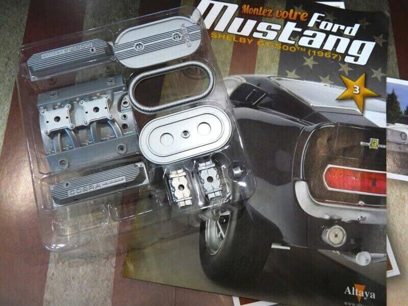 Shelby GT500 - 1967 - 1/8ème - Kit métal - Fascicules Altaya She00113