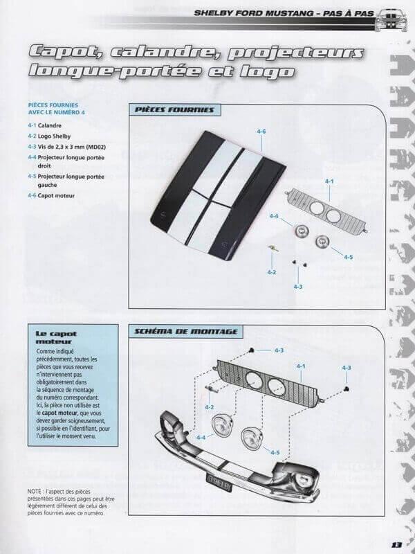 Shelby GT500 - 1967 - 1/8ème - Kit métal - Fascicules Altaya She00115