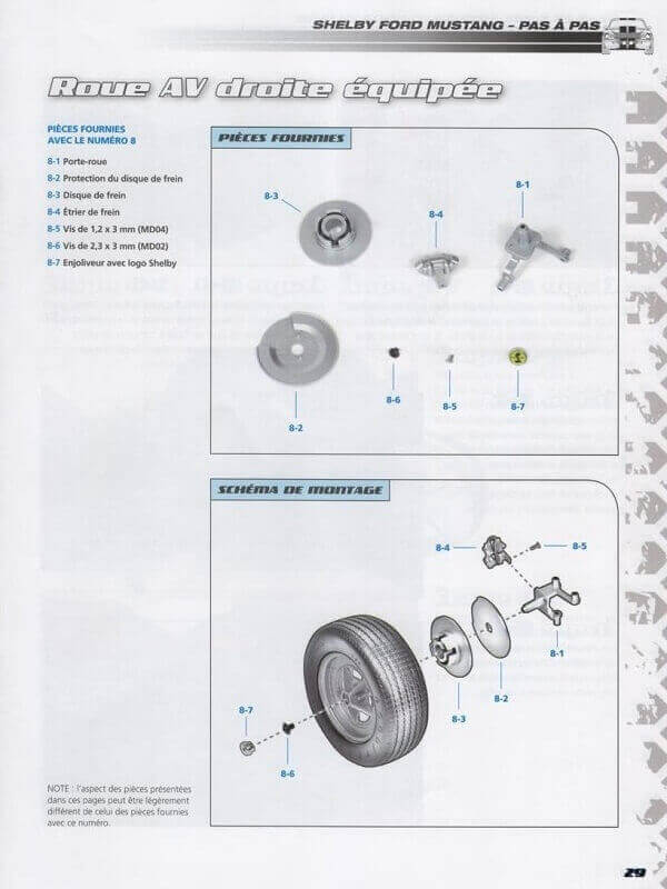 Shelby GT500 - 1967 - 1/8ème - Kit métal - Fascicules Altaya She00314