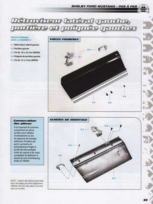 Shelby GT500 - 1967 - 1/8ème - Kit métal - Fascicules Altaya She00316