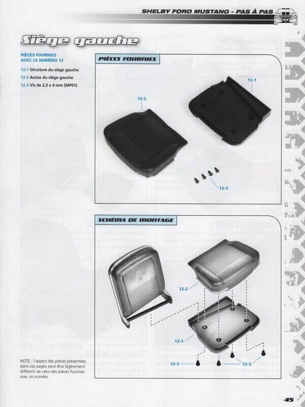 Shelby GT500 - 1967 - 1/8ème - Kit métal - Fascicules Altaya - Page 2 She00613