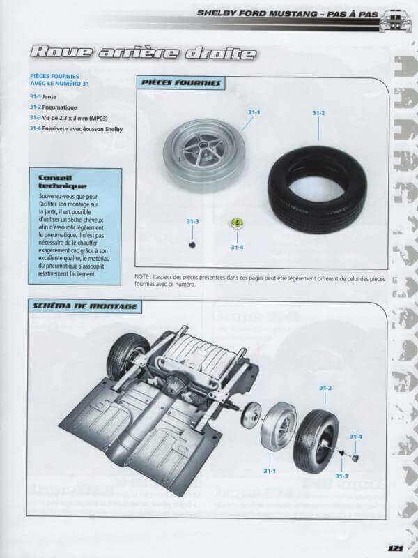 Shelby GT500 - 1967 - 1/8ème - Kit métal - Fascicules Altaya - Page 3 Shf_1015