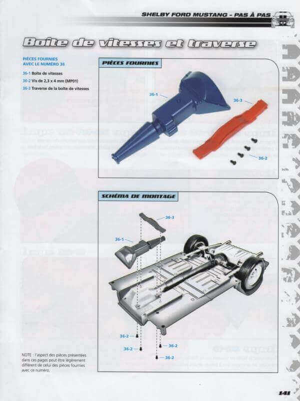 Shelby GT500 - 1967 - 1/8ème - Kit métal - Fascicules Altaya - Page 3 Shf_1314