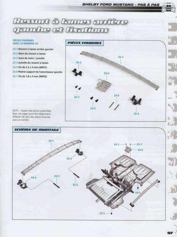 Shelby GT500 - 1967 - 1/8ème - Kit métal - Fascicules Altaya - Page 2 Shf_7410