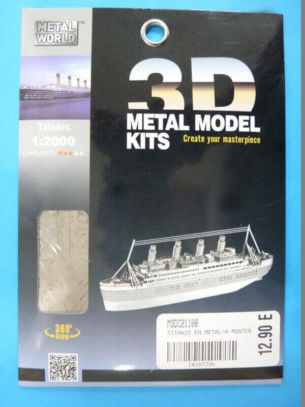 Titanic 3D métal kit au 1/2000 ème T0001a10