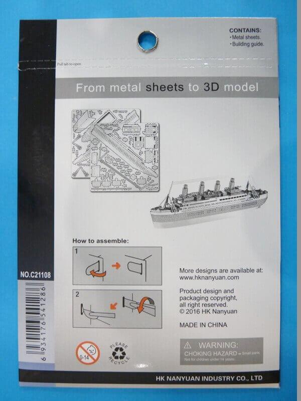 Titanic 3D métal kit au 1/2000 ème T000210