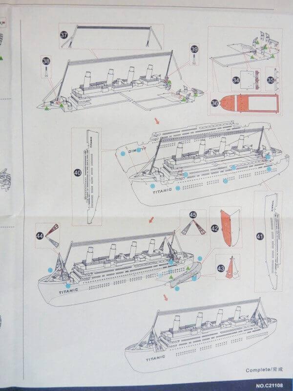 Titanic 3D métal kit au 1/2000 ème T000710
