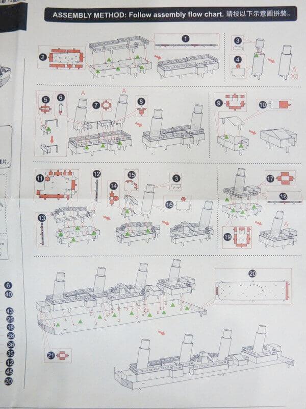 Titanic 3D métal kit au 1/2000 ème T000810