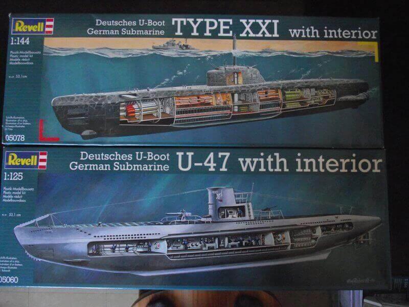 Sous marin Type XXI Revell au 1/144 par denis25 Ty00110