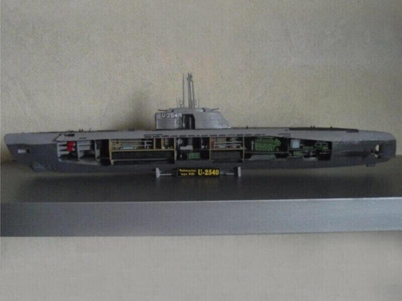 Sous marin Type XXI Revell au 1/144 par denis25 Ty01210