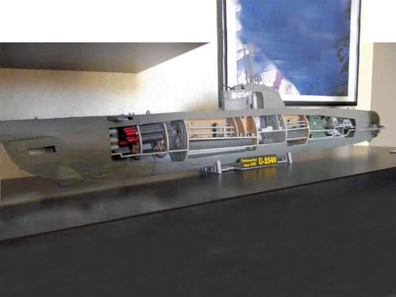 Sous marin Type XXI Revell au 1/144 par denis25 Ty01510