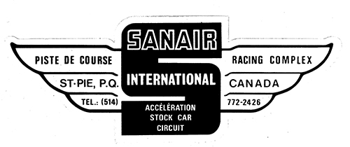 Stickers vintage en tout genre, Track, produit auto, dealer ect... Sanair10