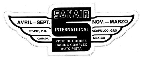 Stickers vintage en tout genre, Track, produit auto, dealer ect... Sanair12