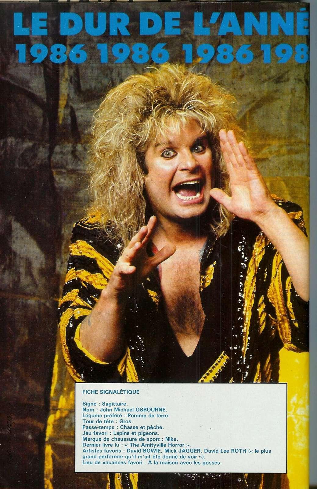 """Année sabbathique pour OZZY (Interview  """"Hard Rock Magazine"""" Octobre 1984) 1211"""