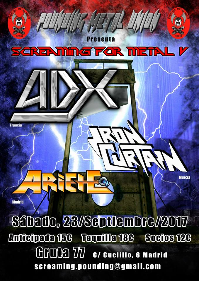 ADX Screaming for Metal V (Sala Gruta77, Madrid) le 23-09-17 ... 17022310