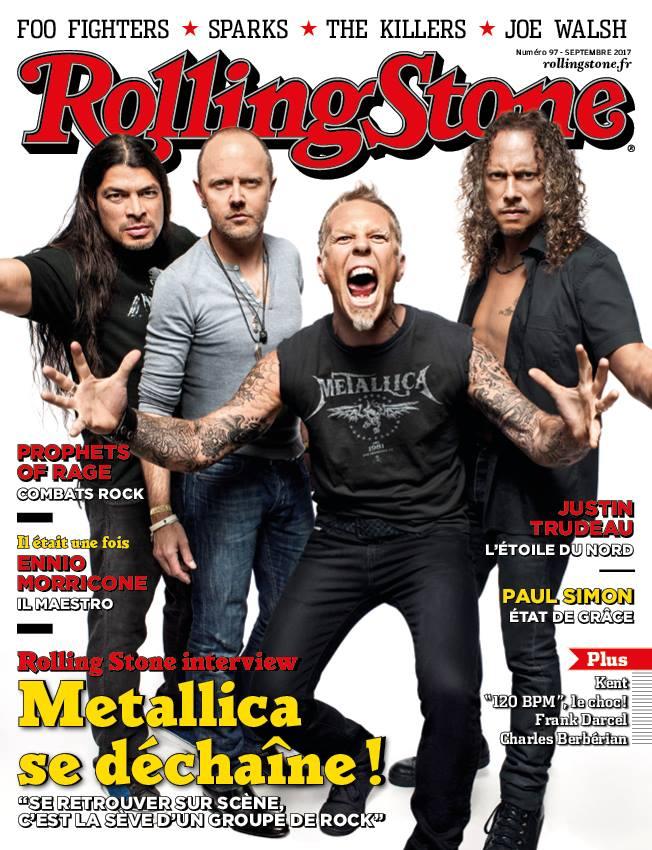 """ROLLING STONE Magazine """"METALLICA se déchaine"""" Numéro 97 du Vendredi 25 Août 2017 ... 20994010"""