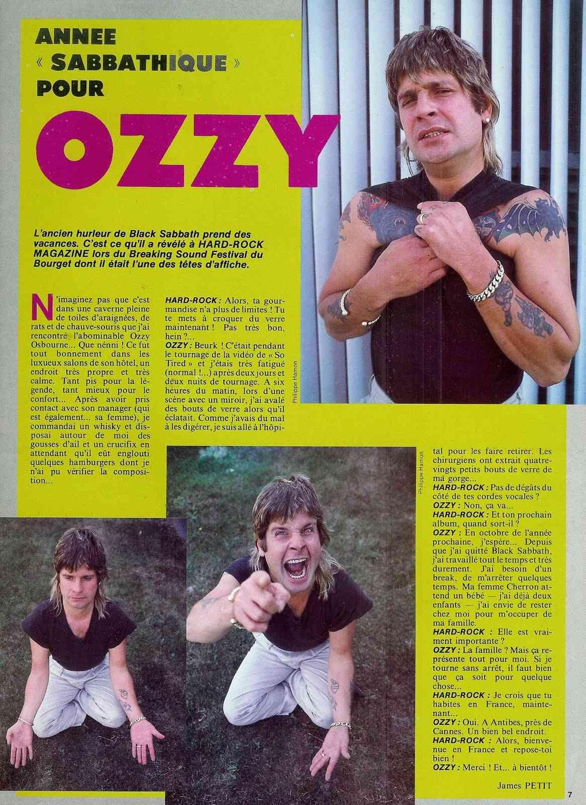 """Année sabbathique pour OZZY (Interview  """"Hard Rock Magazine"""" Octobre 1984) Annye_10"""