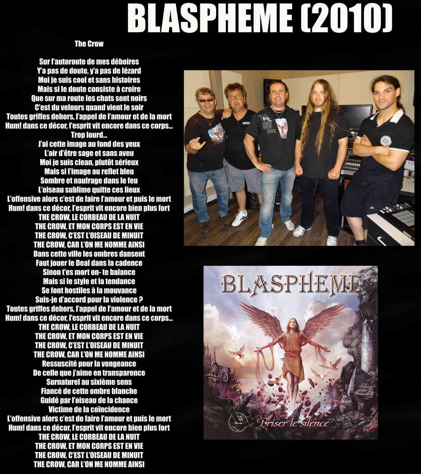 BLASPHEME The Crow (2010) Blasph10