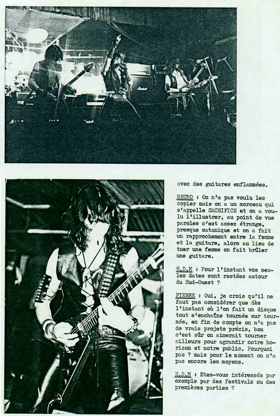 Interview KILLERS dans ÉCLATS DE METAL (MAI 1985) (Archive) Eclats19