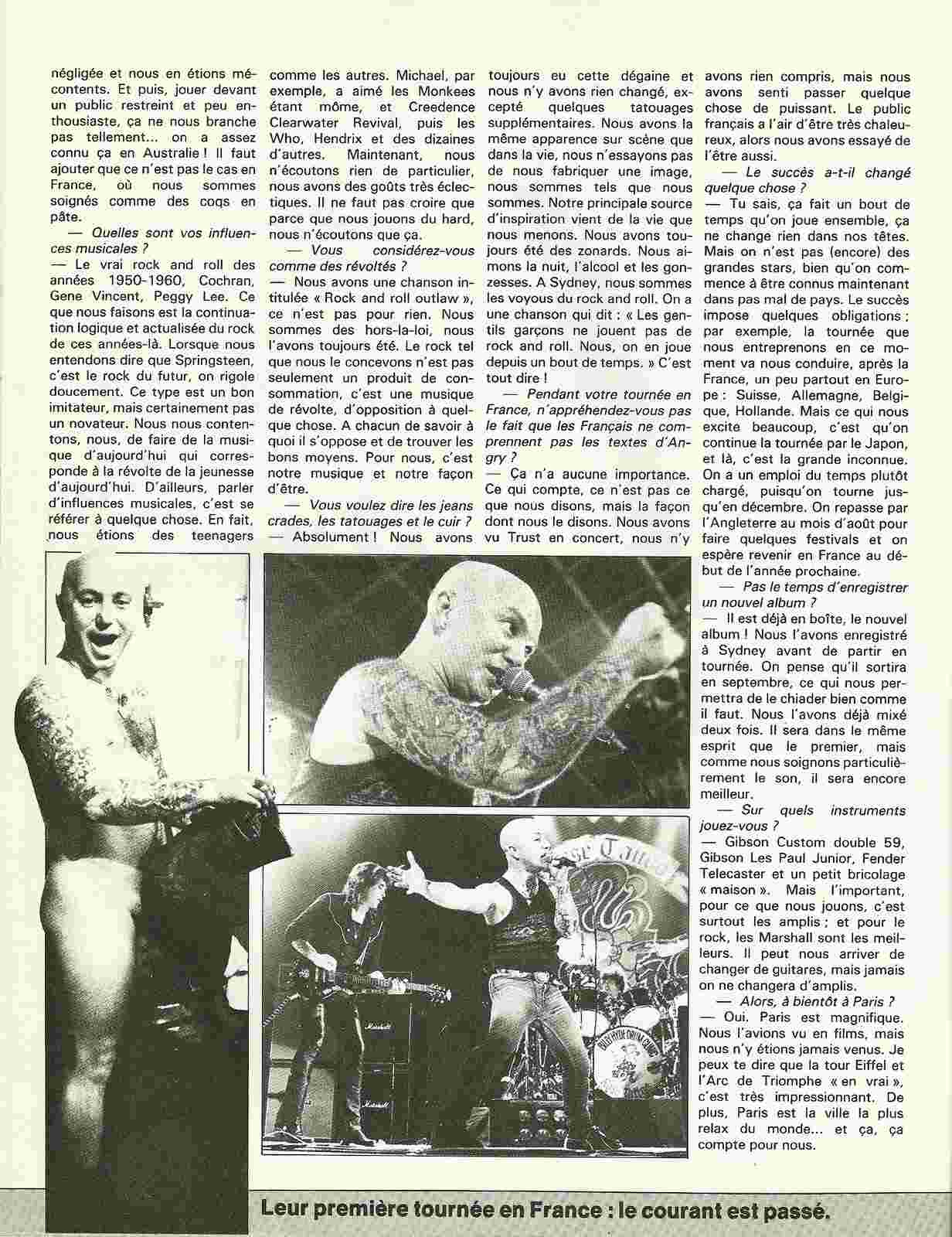 Interview ROSE TATTOO de l'anatomie fleuri des australiens du hard ! (Archive) Numyri17