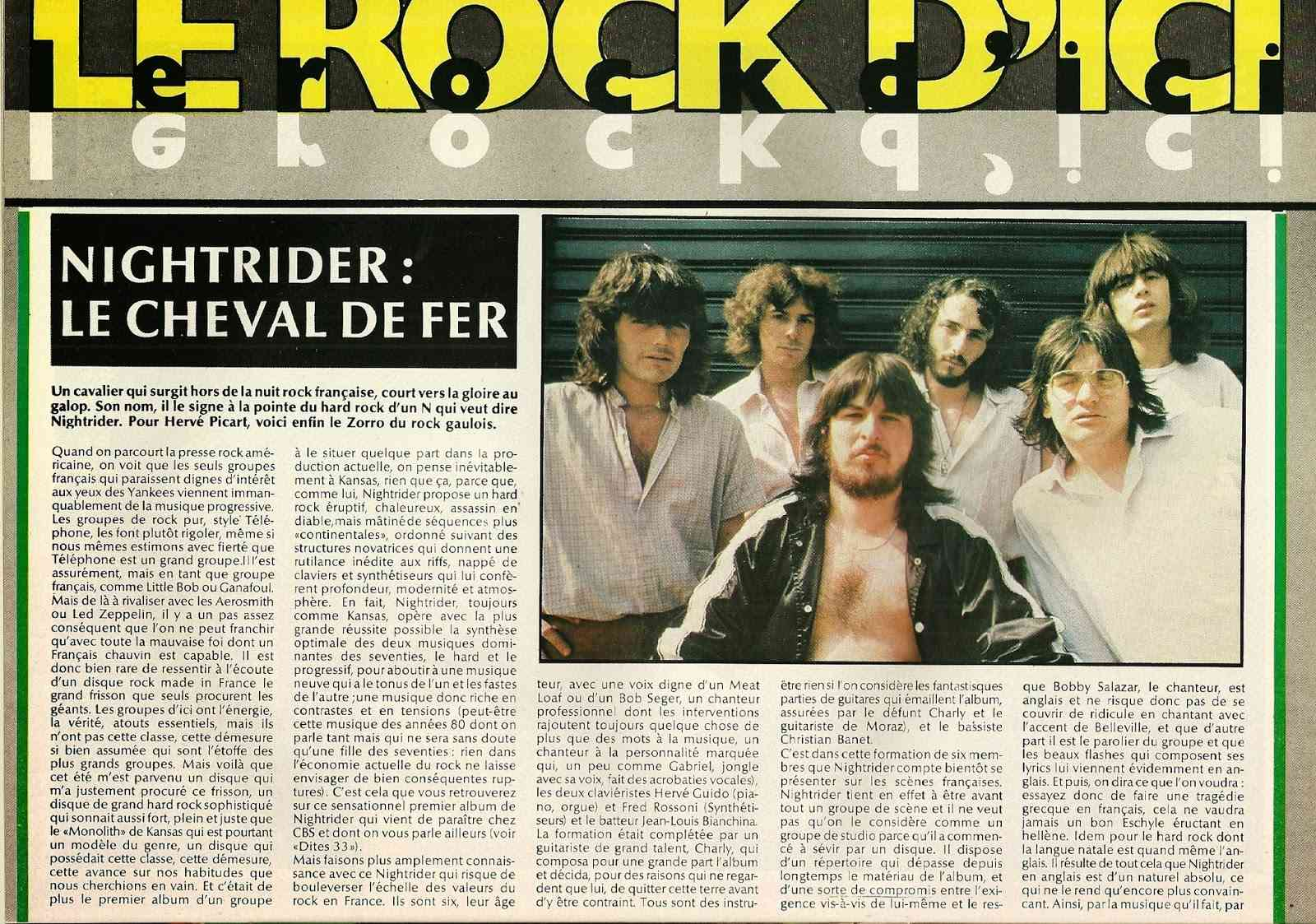 "NIGHTRIDER Le cheval de fer ""Best"" Octobre 1979 (Archive) Numyri31"