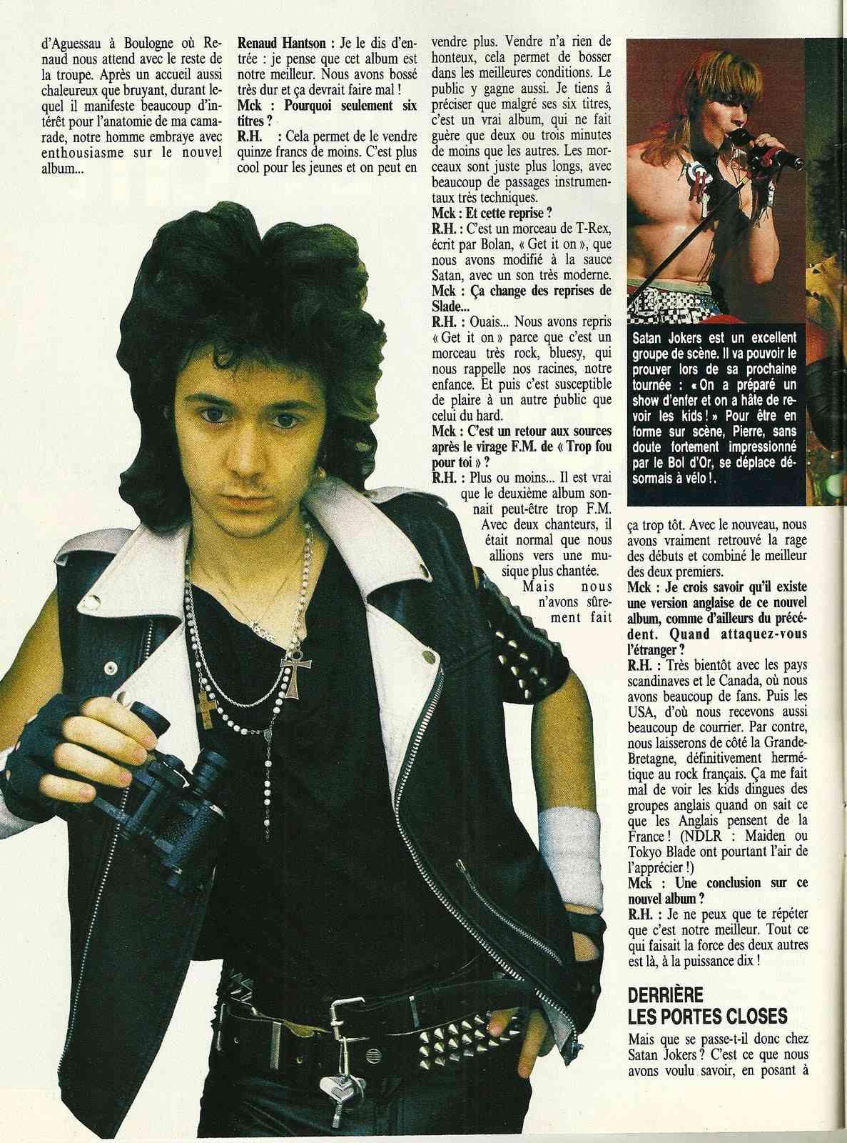 "SATAN JOKERS La rage de vaincre (""Metal Attack"" Mai 1985) Numyri52"