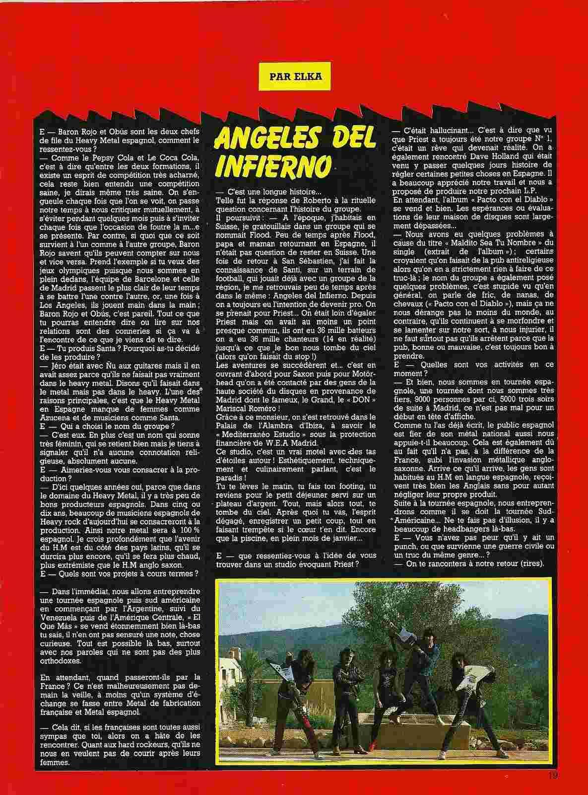"""HEAVY METAL en Espagne (archive) """"Metal Attack"""" Octobre 1984 Numyri58"""