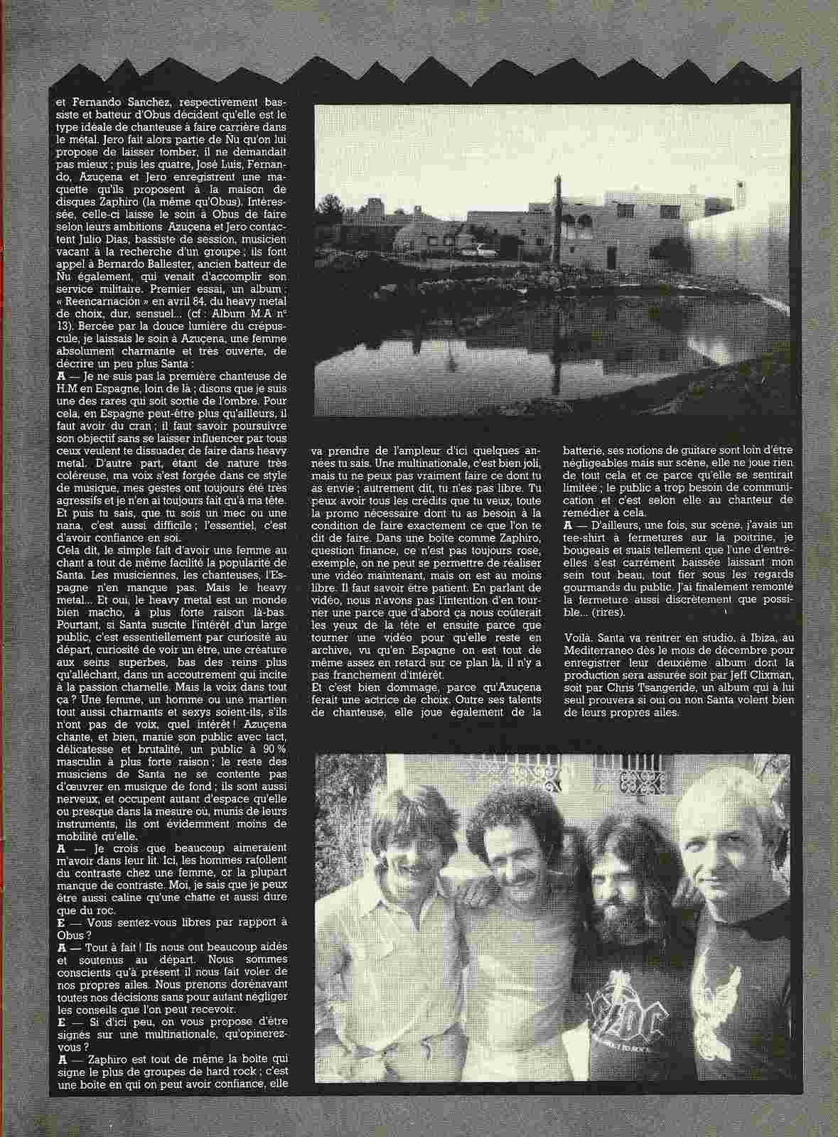 """HEAVY METAL en Espagne (archive) """"Metal Attack"""" Octobre 1984 Numyri59"""