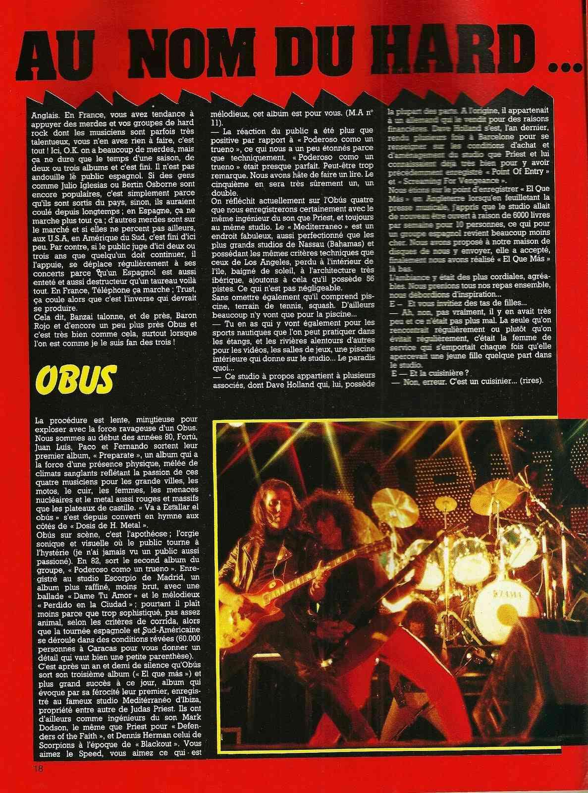 """HEAVY METAL en Espagne (archive) """"Metal Attack"""" Octobre 1984 Numyri60"""