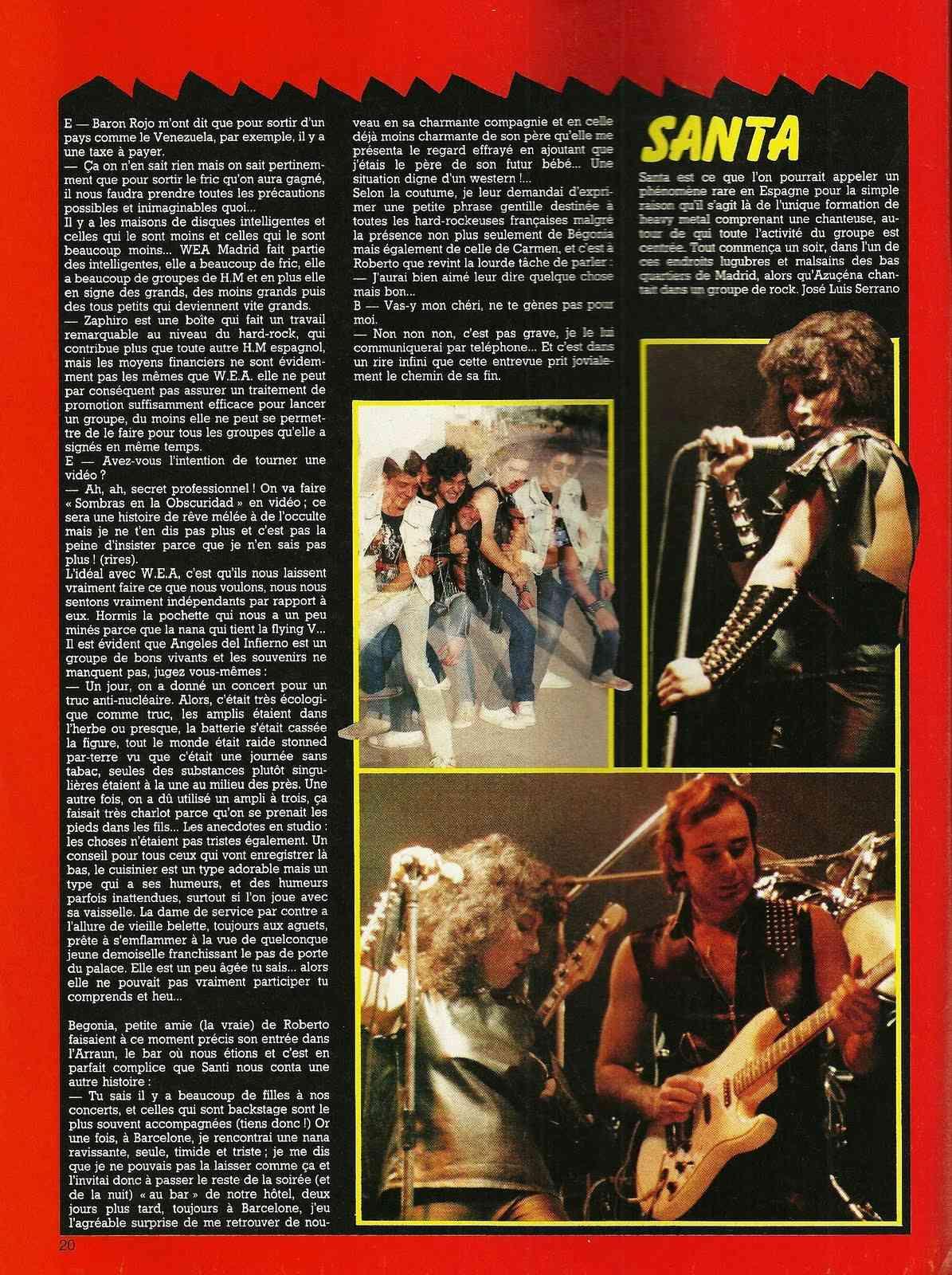 """HEAVY METAL en Espagne (archive) """"Metal Attack"""" Octobre 1984 Numyri61"""