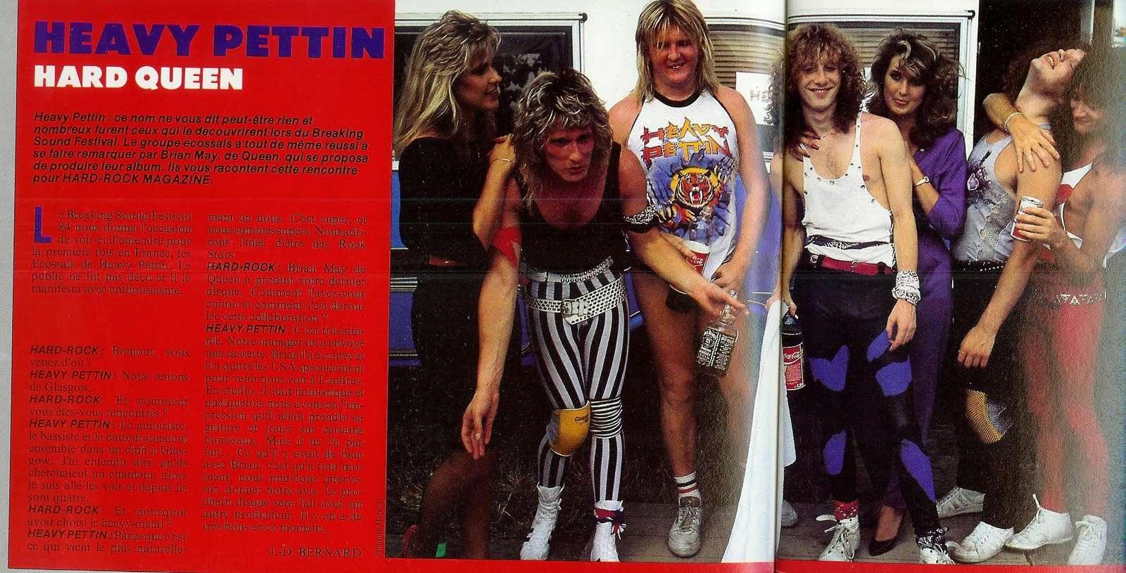 "HEAVY PETTIN Hard Queen (Interview ""Hard Rock Magazine"" Octobre 1984) Scan0011"