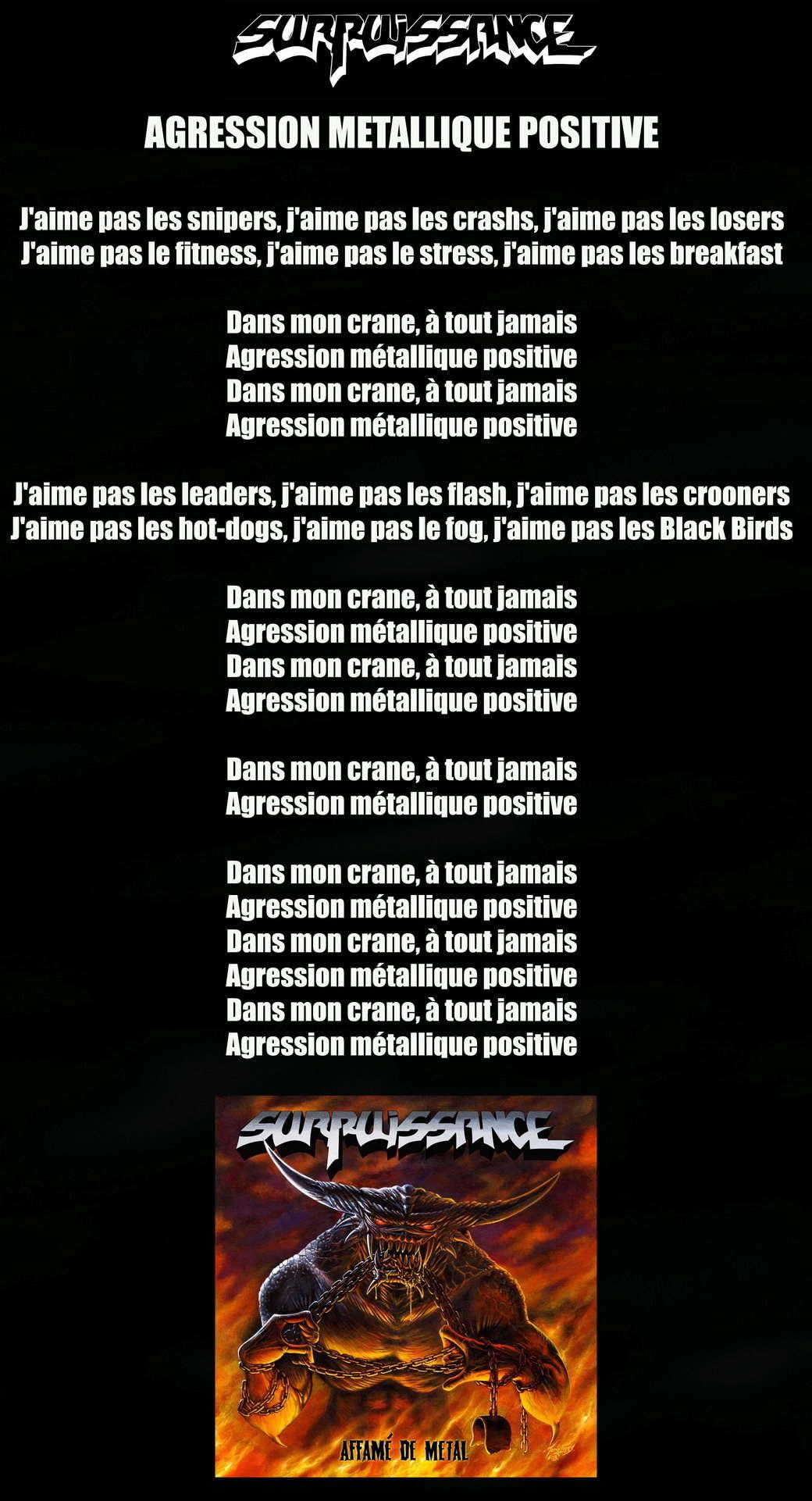 SURPUISSANCE Agression Metallique Positive (2014) Surpui10