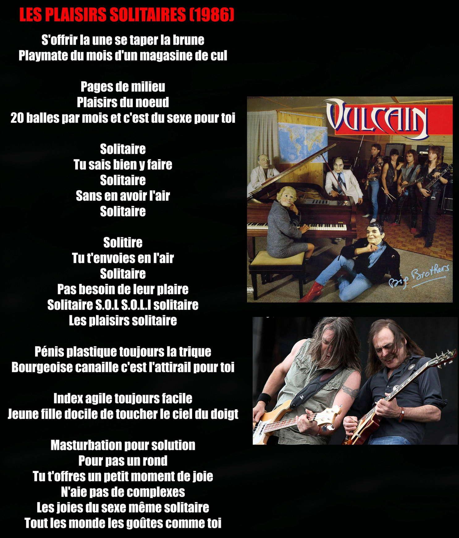 VULCAIN Les plaisirs solitaires (1986) Vulcai10