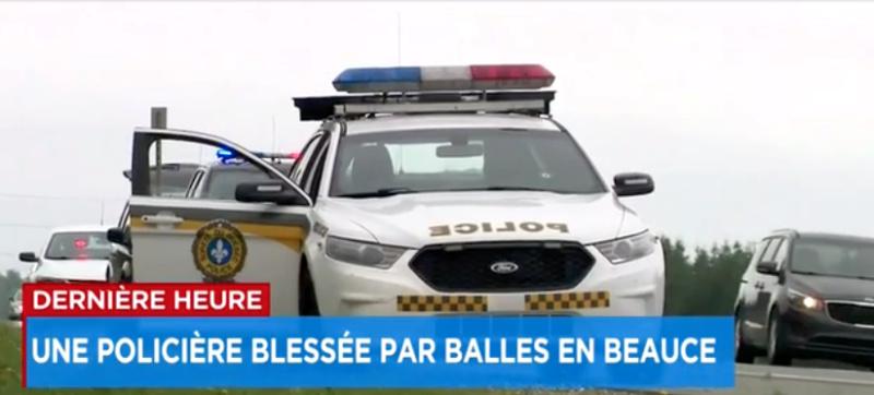 Une policière blessée par balle en Beauce Captu810