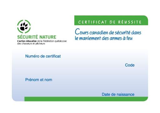 Cours de sécurité des armes a feu versus certificat du chasseur Unname13