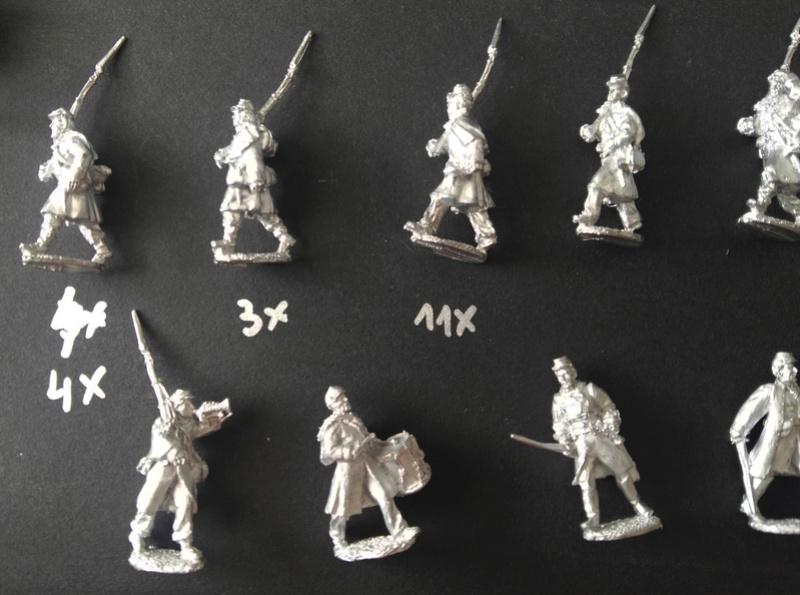 Kickstarter 28mm Miniature Civil War Union Soldiers wearing great coats 610