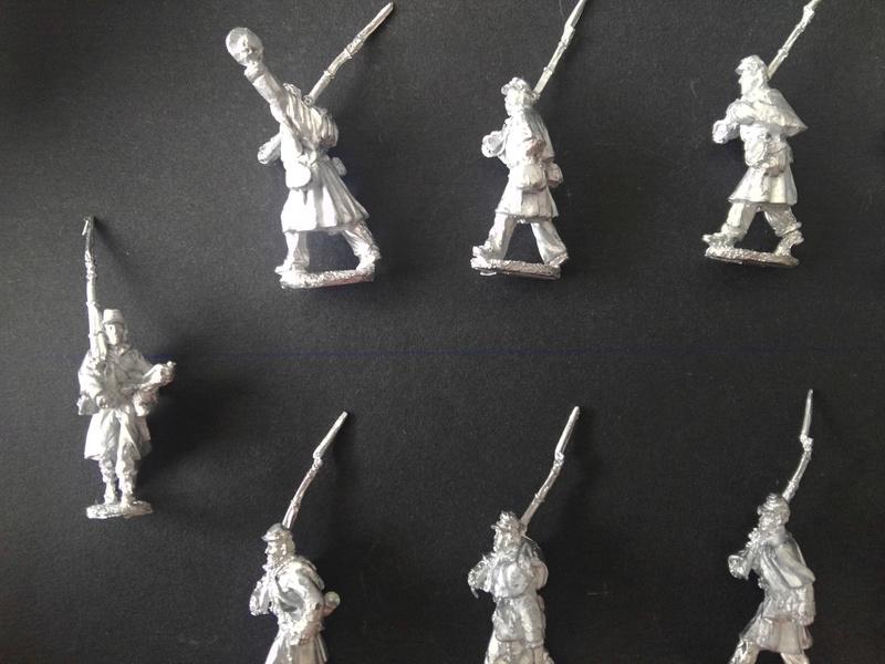 Kickstarter 28mm Miniature Civil War Union Soldiers wearing great coats 710