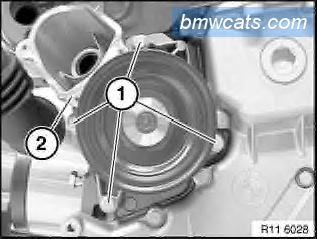 [ BMW E90 320d M47N2 an 2007 ] Remplacement pompe a eau 611