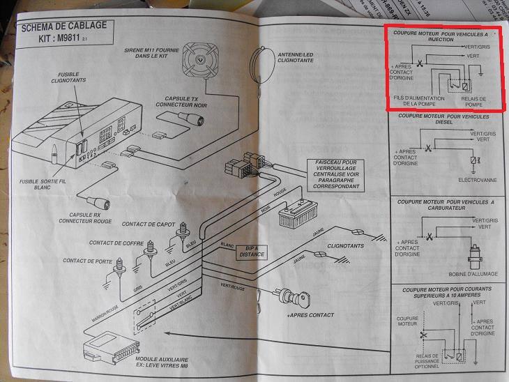 405 SRI phase 2 ne démare pas probléme de relais double et peut étre calculateur 21469910