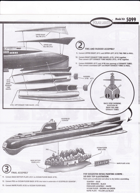 [POLAR-LIGHTS] Sous-marin SEAVIEW de la série VOYAGE AU FOND DES MERS 1/350ème Réf 5099 Img_2036