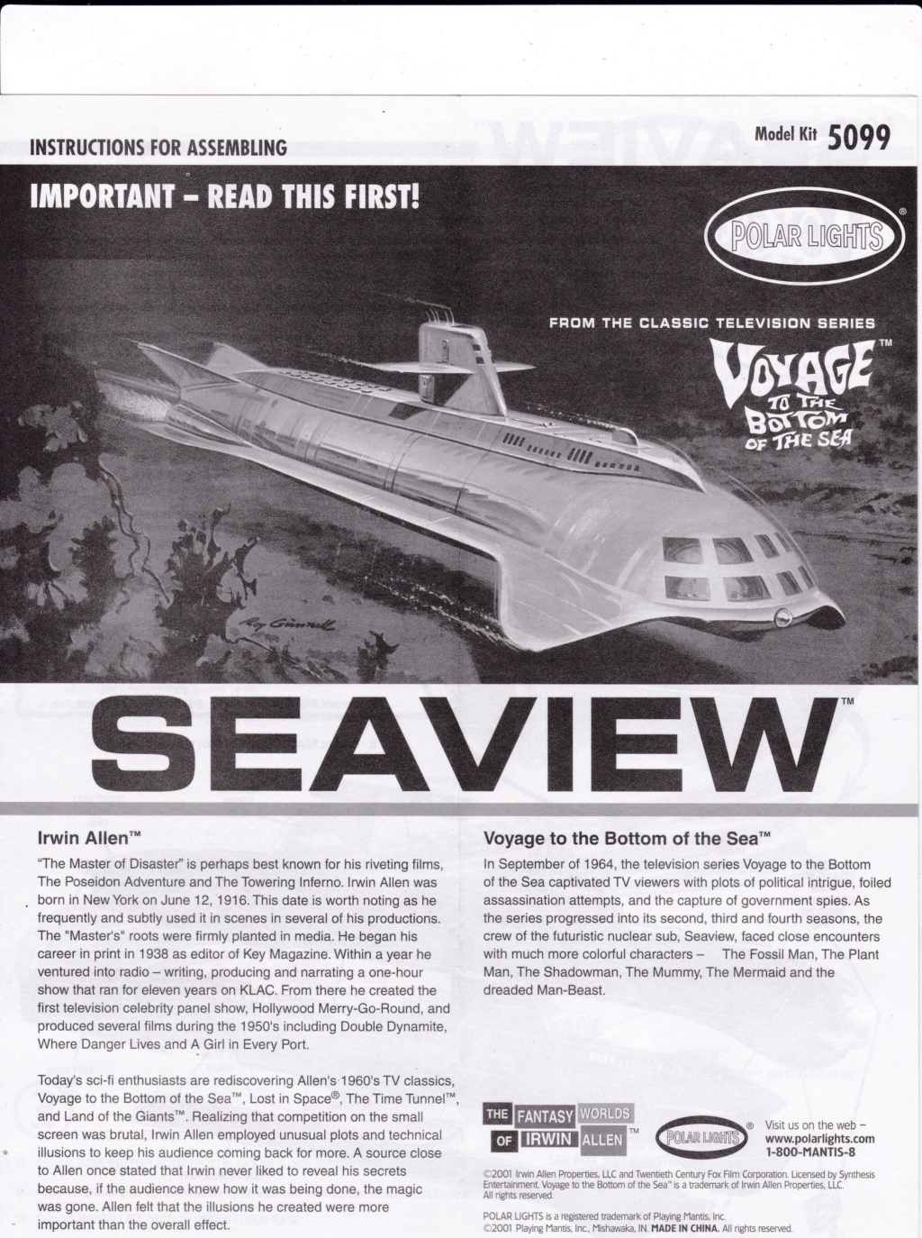 [POLAR-LIGHTS] Sous-marin SEAVIEW de la série VOYAGE AU FOND DES MERS 1/350ème Réf 5099 Img_2038