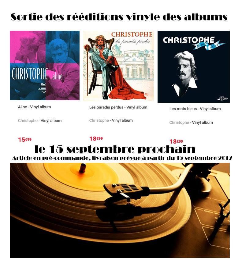 """FNAC: Sortie des rééditions vinyle des albums """"Aline"""", """"Les mots bleus"""" et """"Les paradis perdus"""" 21105510"""
