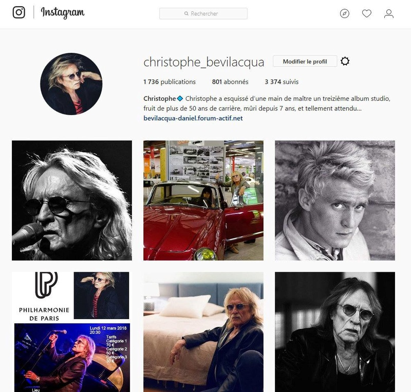 Venez suivre votre artiste sur Instagram ( CHRISTOPHE ) 21586610