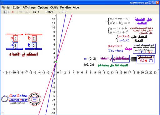 درس تطبيقي ...شرح خطوات إنجاز ملف: الحل البياني لجملة .م System10