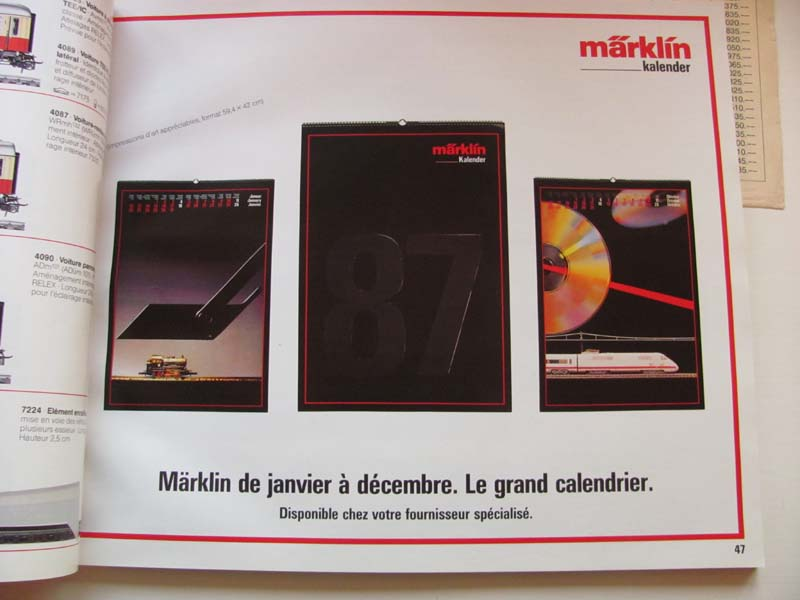 [Märklin] Catalogue 1986-1987 Img_0159