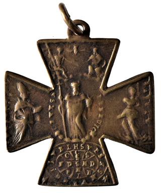 Cruz de San Ulrico con San Benito y Santa Afra. (F. /Clase III. A.) [ Pec037/S-XVIII ] Dsc_0624